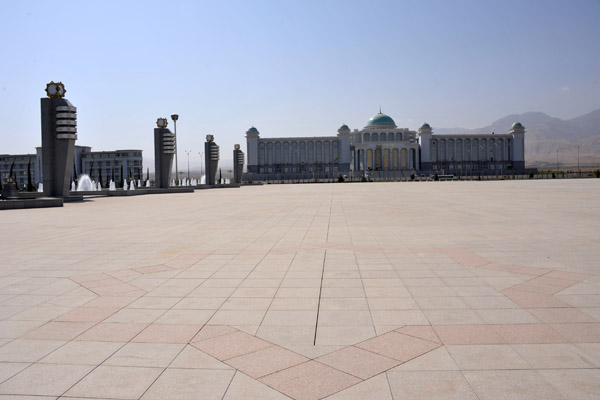 Vast empty square in front of the Constitution Monument - site of 2012s new years festivities
