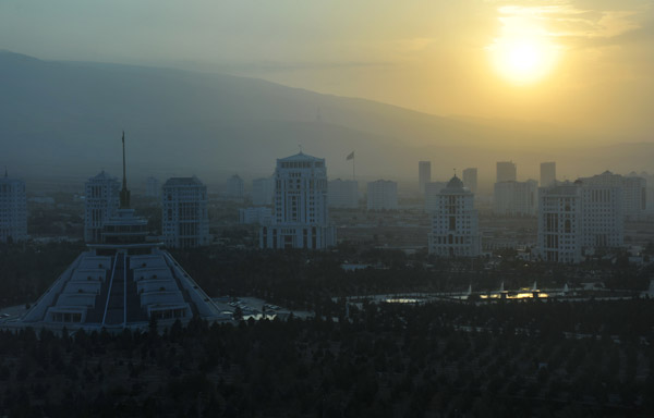 Sunset from the Paytagt Tower, Ashgabat