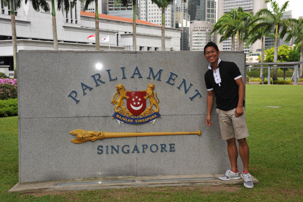 Dennis at the Singapore Parliament