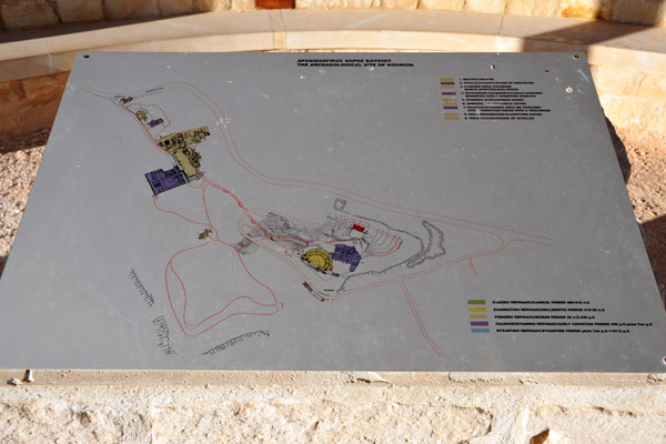Map of the archaeological site of Kourion