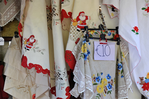 Embroidery in Omodos showing Christmas spirit