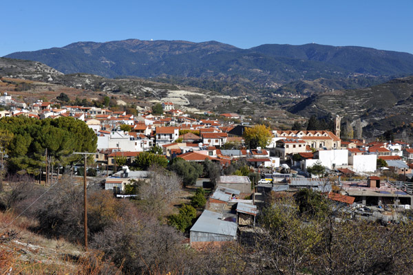 Omodos, the wine capital of Cyprus, a village in the Troödos Mountains