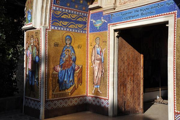 Mosaics at the main entrance, Kykkos Monastery