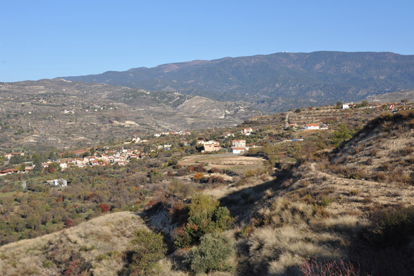 Driving from Limassol into the Troödos Mountains which occupy most of western Cyprus
