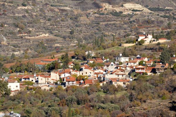 Small mountain village, perhaps Monagri or Doros