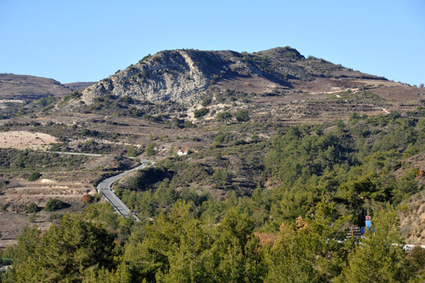 Road through the Troödos Mountains of western Cyprus