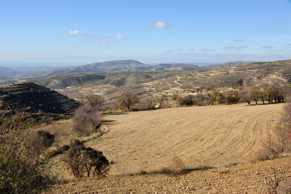 Plowed field waiting for spring - near Malia