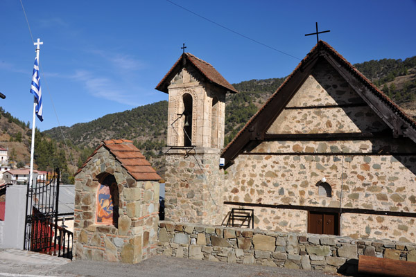 This mountain church in Mylikouri is of a much different style than the other Orthodox churches I had seen so far
