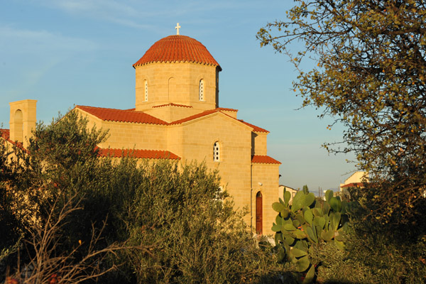 Sunset with the Greek Orthodox Church on the way to Nicosia
