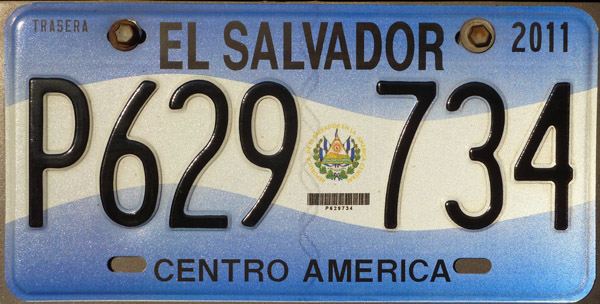 El Salvador License Plate