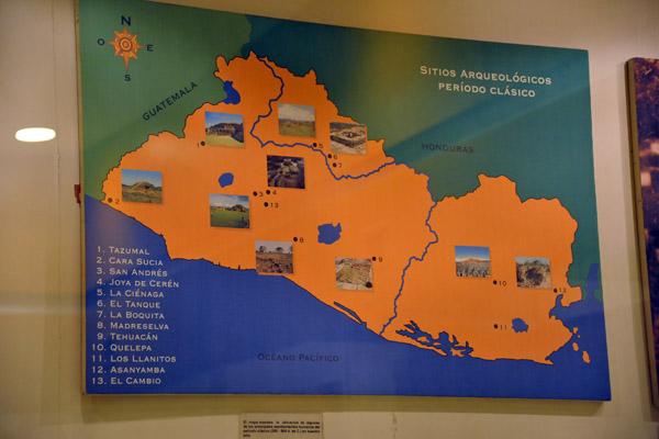 Classical period archeological sites in El Salvador