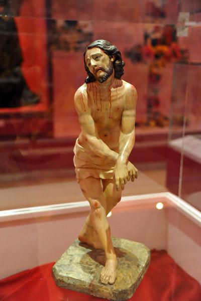 Captive Jesus carved in polychrome wood