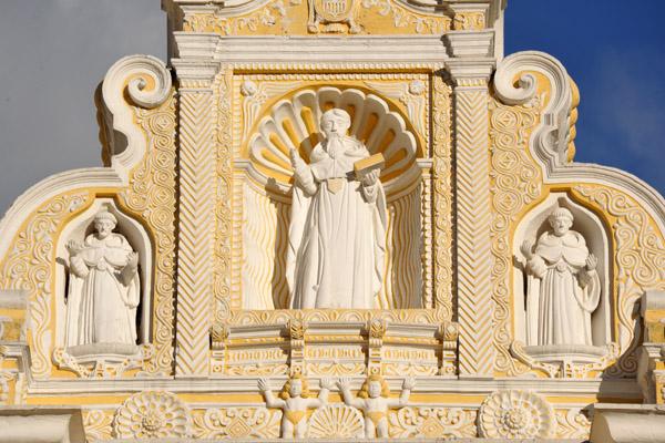 Baroque façade of Nuestra Señora de la Merced, Antigua Guatemala