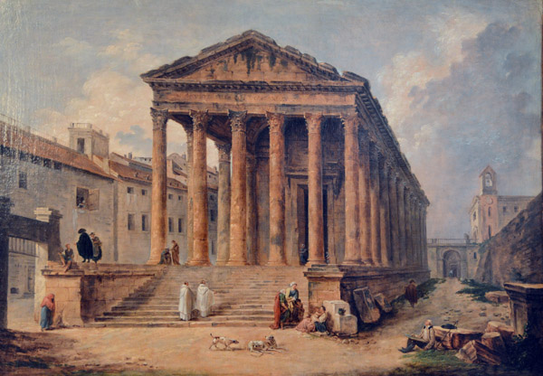 Ancient Temple - the Maison Carrée of Nîmes, Hubert Robert (1733-1808)