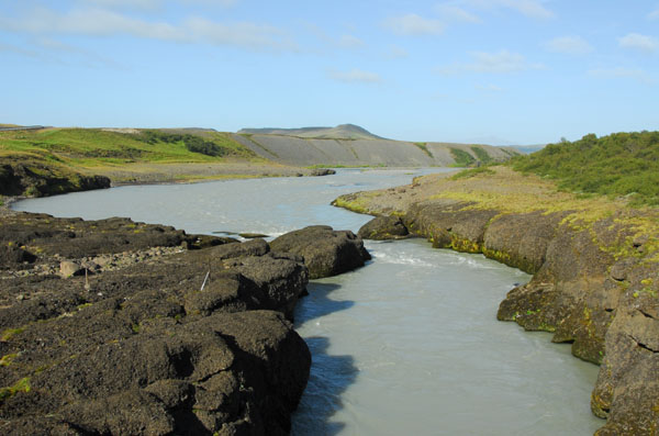 Crossing the Hvítá River downstream from Gullfoss on Route 30