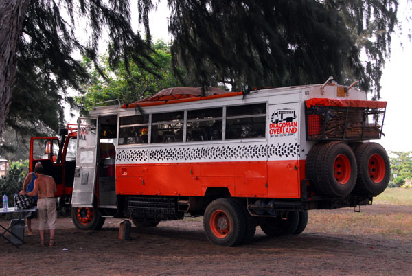 Dragoman Overland truck from the UK, a bit rougher than our truck