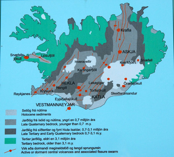 The Medium Is Message >> Geological map of Iceland from a roadside information sign photo - Brian McMorrow photos at ...