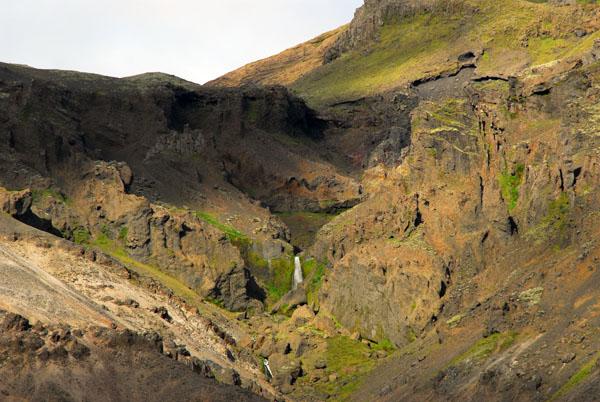 Waterfall feeding into the Hvalvörðugilslækur