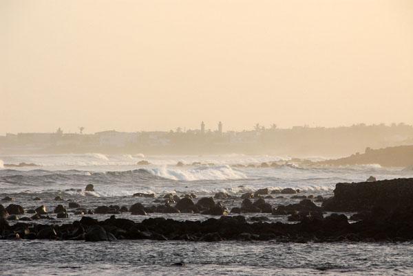 Minarets in distant Yoff