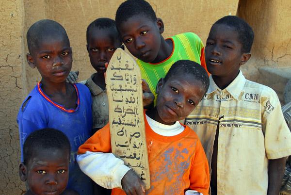 Boys at a Koranic school in Djenné, Mali