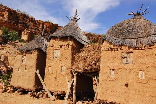 Three granaries, Songho, Mali