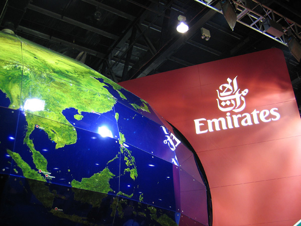 Emirates Airline booth