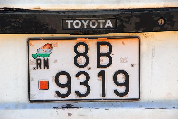 License plate - République du Niger