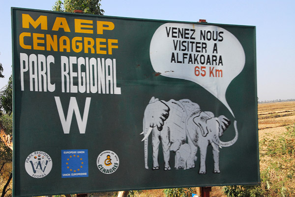 Parc Regional du W is shared by Benin, Niger and Burkina Faso, named after a W shaped bend in the Niger River