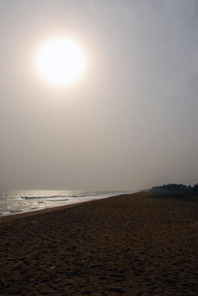 Hazy skies of coastal West Africa