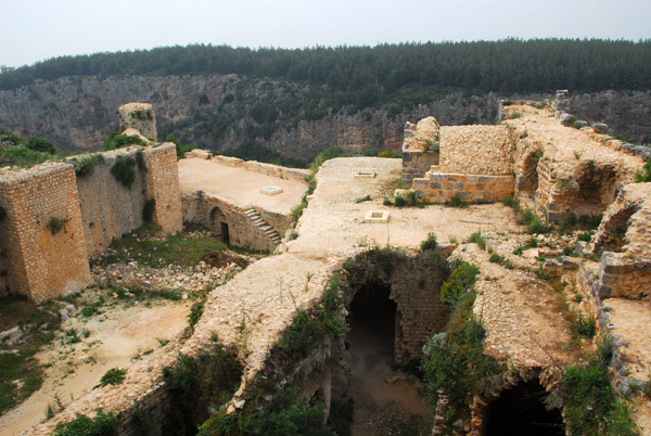 View from the top of the Keep, Saladin Castle