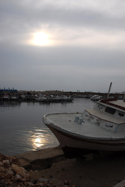 The small fishing and tourist harbor at Tartous