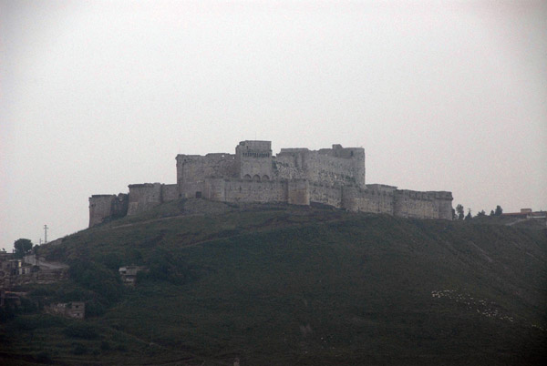 View of the Krak des Chevaliers from the Al-Riad Hotel