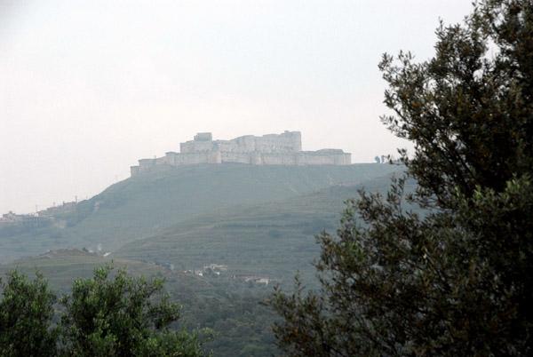Imposing hilltop location of the Krak des Chevaliers