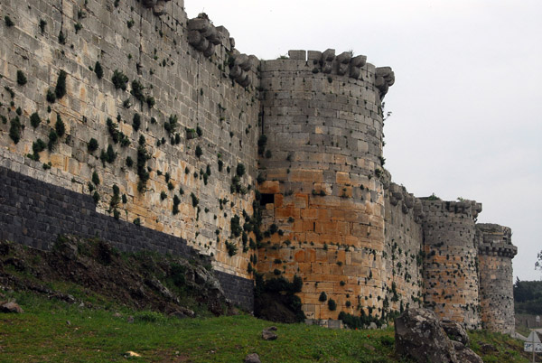 Qalaat al-Hosn - the Crusader castle was built on the site of an earlier fortification