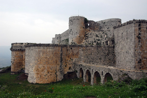 Krak des Chevaliers is the best preserved of all the Crusader castles