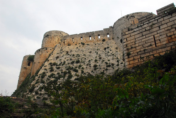 Sloping wall leading up to the Keep and Master Chamber, Krak des Chevaliers