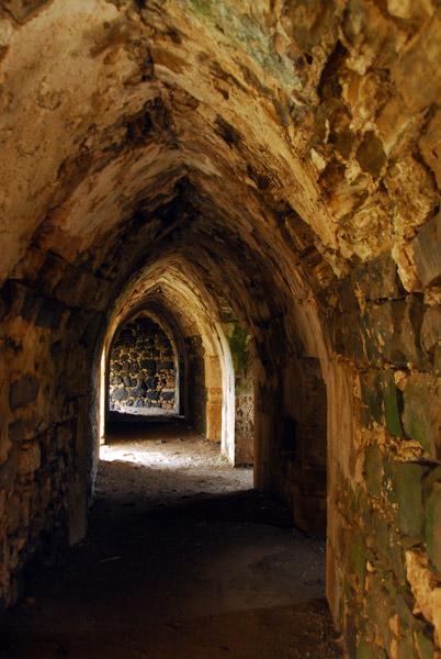 Passageway along the southeast wall