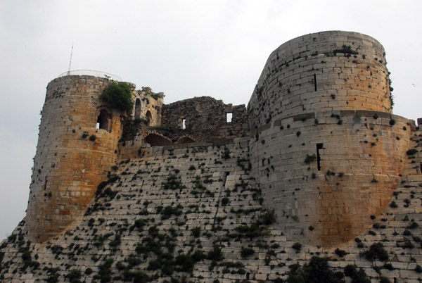 Sloping inner south wall of the Keep and Master Chamber