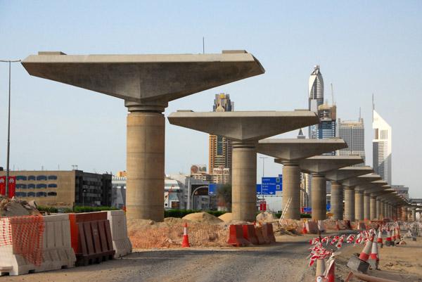 Dubai Metro Project along Sheikh Zayed Road