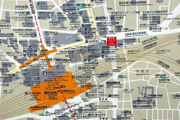 Map of the Nagoya Station area