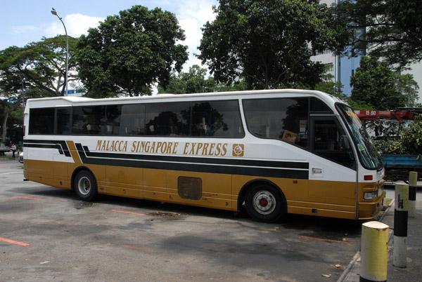 Malacca Singapore Express bus, around a 4 hour journey
