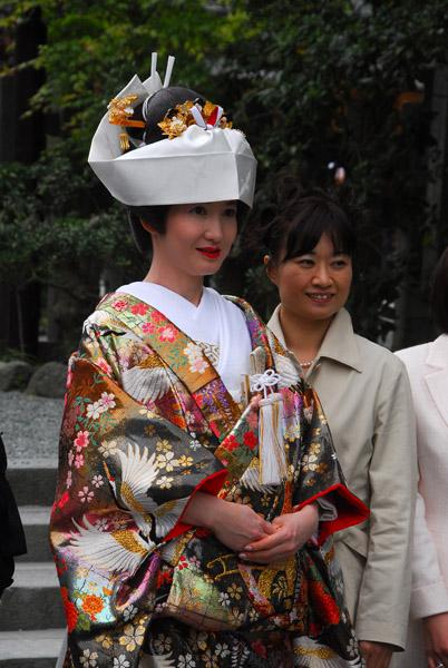 The bride after the ceremony, Tsurugaoka Hachiman-gu