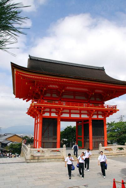 Kiyomizu-dera - also called Ro-Mon (Tower or Red Gate)