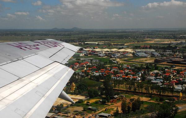 Departing Phnom Penh, Cambodia on Thai Airways (HS-TDH)