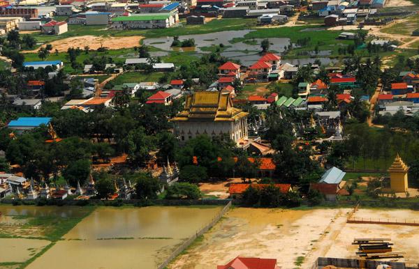 Temple near Phnom Penh Airport, Cambodia
