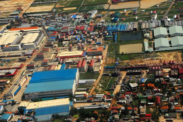 Industrial area near Phnom Penh, Cambodia