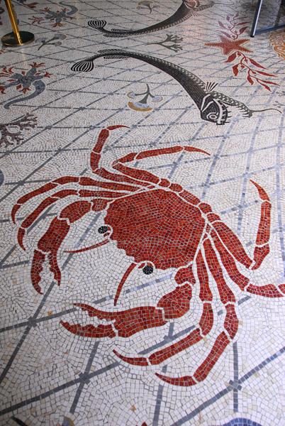 Mosaic floor of the Monaco Oceanographic Museum