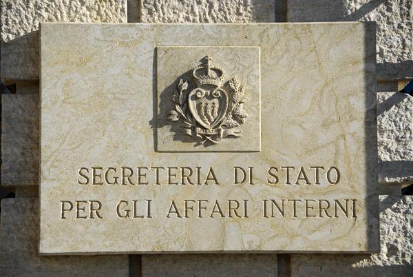 Segreteria di Stato per gli Affari Interni - San Marino