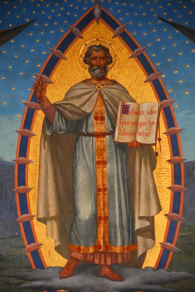 L'apparizione di San Marino al suo popolo, Emilio Retrosi 1894