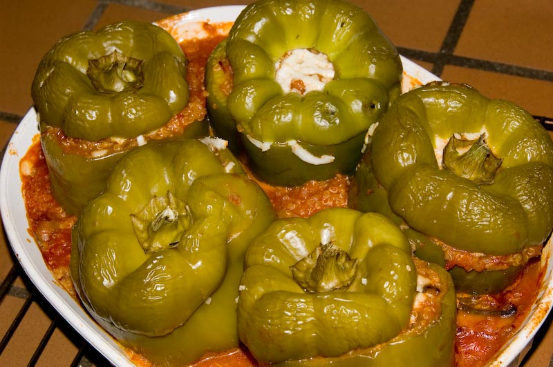 Peppers stuffed with Quinoa and Cheese
